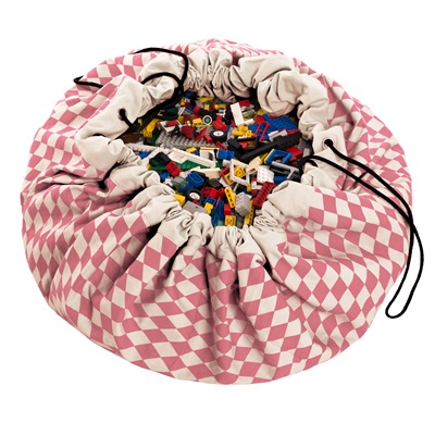 PLAY & GO TOY STORAGE BAG in Pink Diamonds Design
