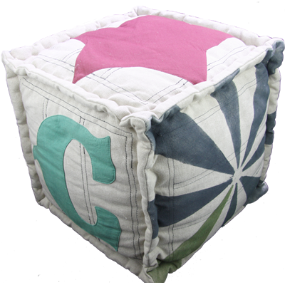 KIDS POUF CUSHION in Circus Design