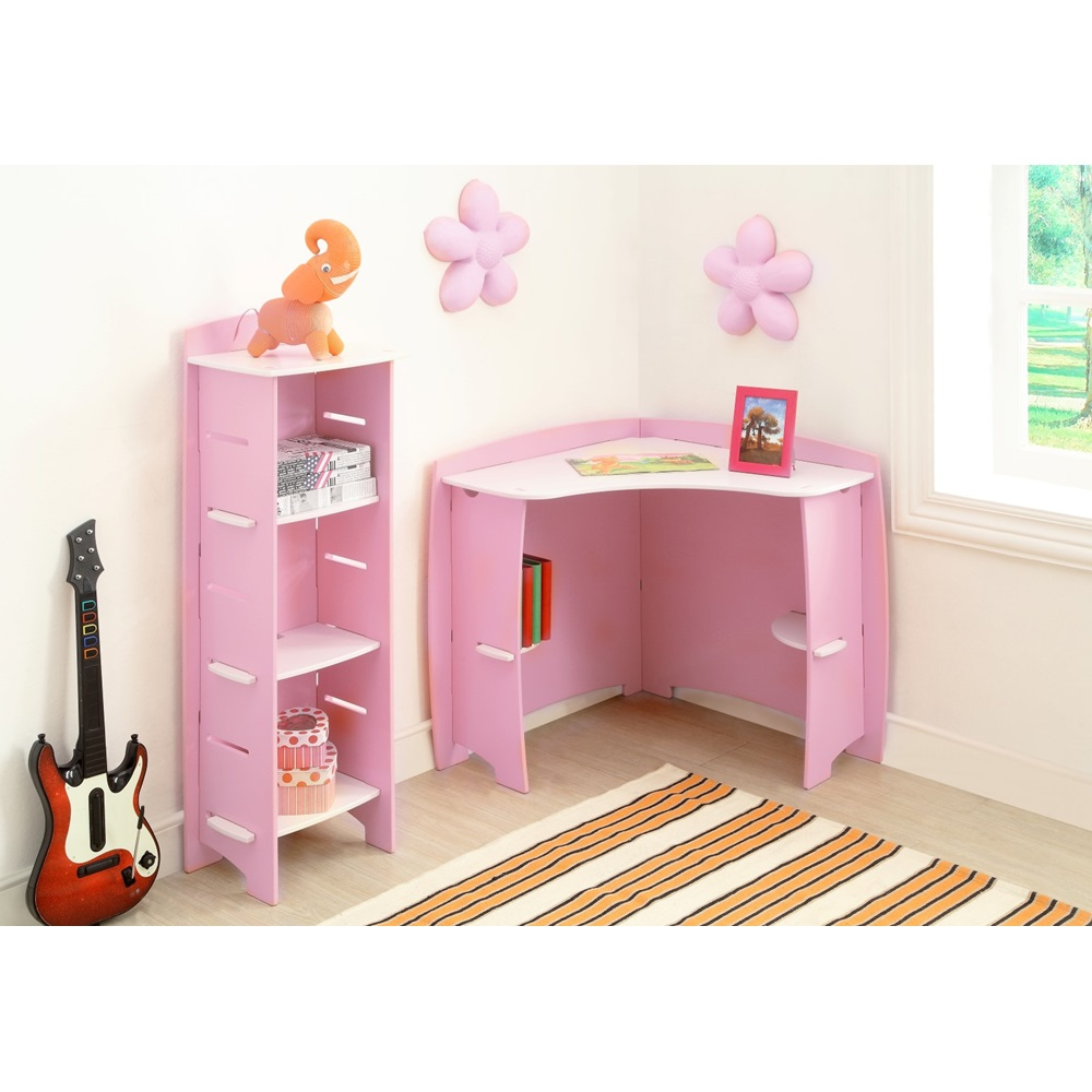 Easy fit kids corner desk in 39 princess 39 design beds - Dormitorios juveniles blancos ...