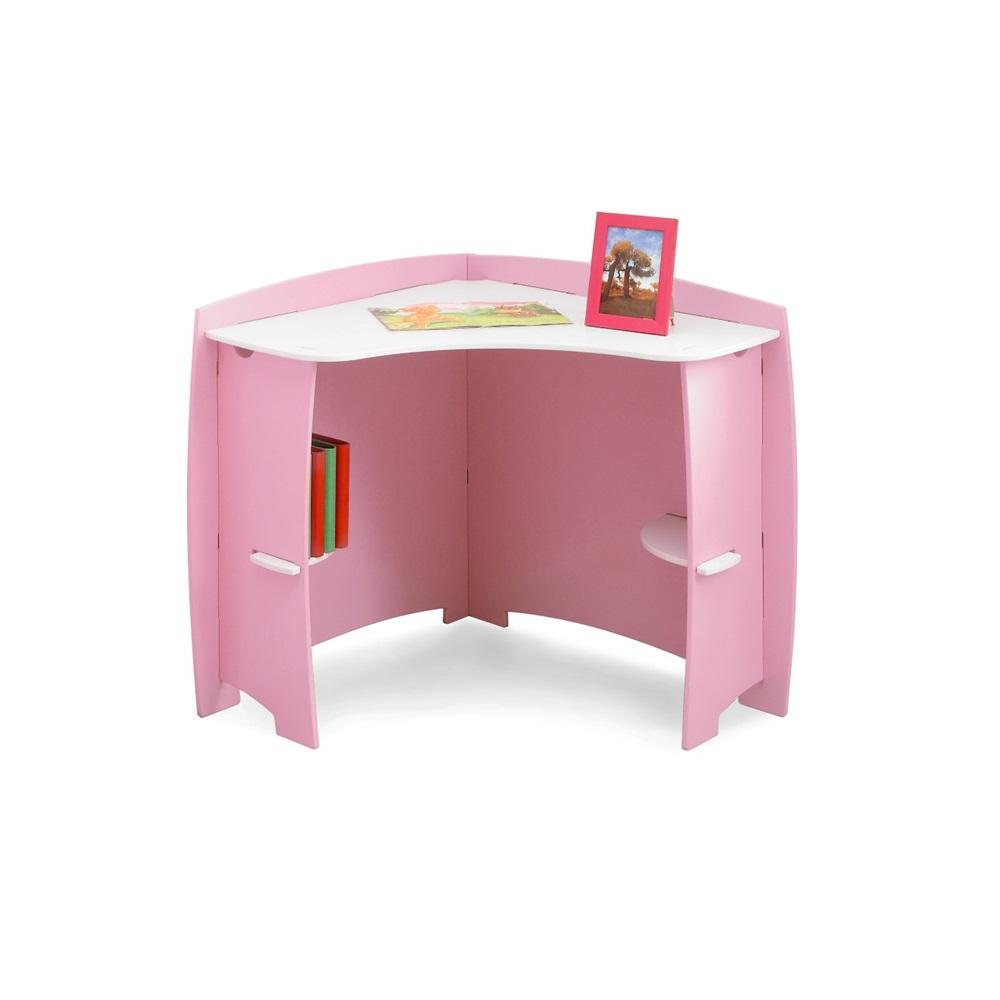 Easy fit kids corner desk in 39 princess 39 design beds bedroom access - Desks for bedrooms ...