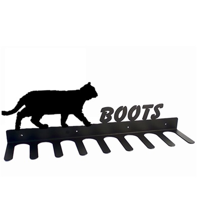 BOOT RACK in Prowling Cat Design