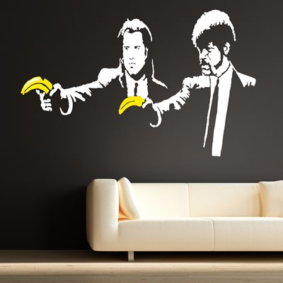 BANKSY WALL STICKER in Pulp Fiction design