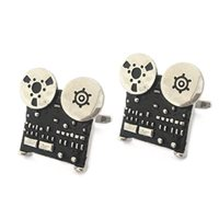 MENS CUFFLINKS in Retro Tape Recorder Design