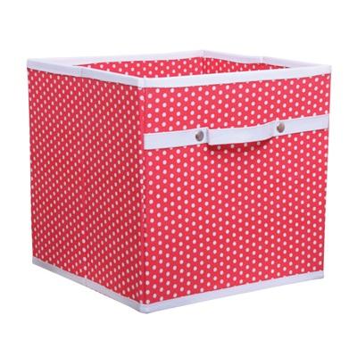 STORAGE BOX in Dotty Red