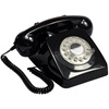 Retro Telephone in Black with Rotary Dialing Function