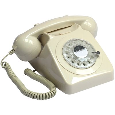 746 RETRO ROTARY DIAL PHONE in Ivory
