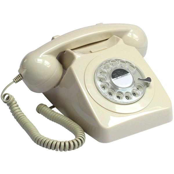 Vintage Dial Phone n Ivory White