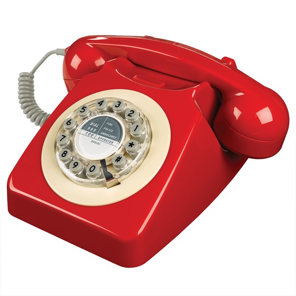 Retro Telephone in Bright Red