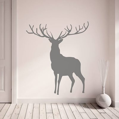 STAG WALL STICKER in Dark Grey