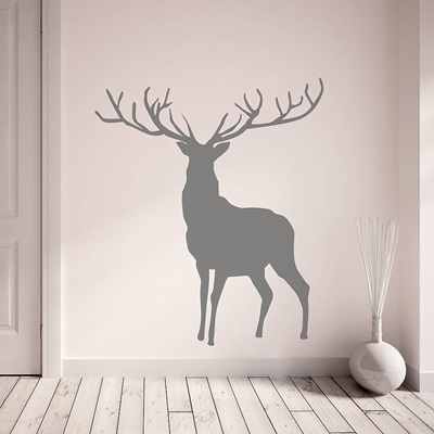 stag wall sticker wall art amp wallpaper cuckooland office wall stickers india o wall decal