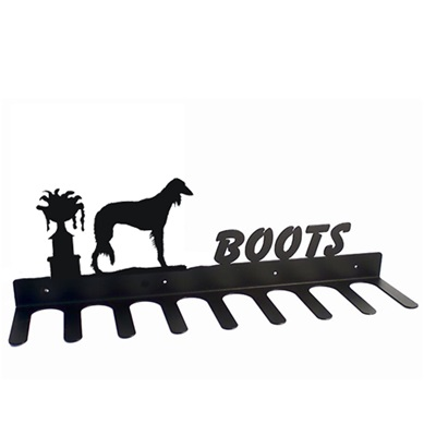 BOOT RACK in Saluki Dog Design