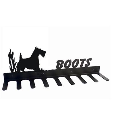 BOOT RACK in Scottie Dog Design