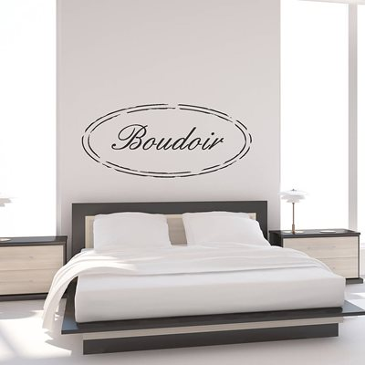 SHABBY CHIC BOUDOIR WALL STICKER in Black