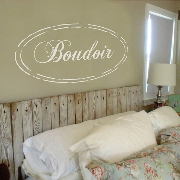 SHABBY CHIC BOUDOIR WALL STICKER in White