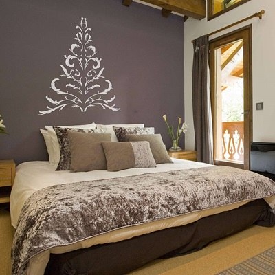 ANTLER CHRISTMAS TREE WALL STICKER in White