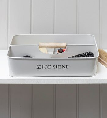 SHOE SHINE TRUG in Chalk by Garden Trading
