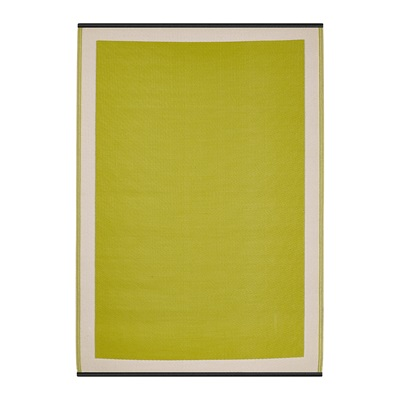 SKIEN OUTDOOR RUG in Celery & White