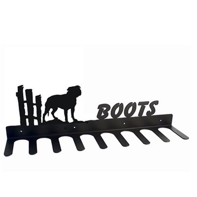 Boot Rack in Staffordshire Terrier Design