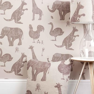 DESIGNER KIDS WALLPAPER- 'How it Works' in Stone
