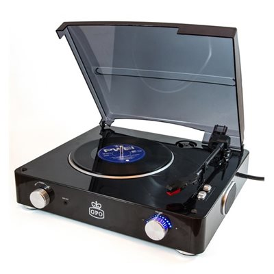 STYLO RECORD PLAYER in Black