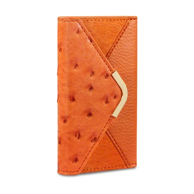 SUKI Faux Leather iPhone Case in Orange by Covert