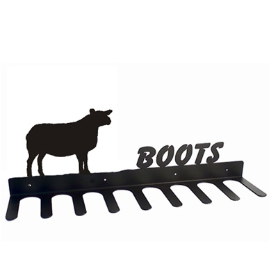 BOOT RACK in Texel Sheep Design