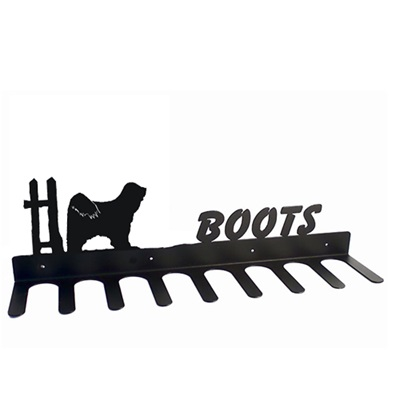 BOOT RACK in Tibetan Terrier Design