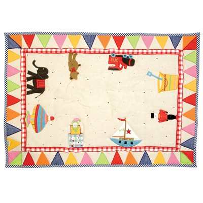 TOY SHOP Floor Quilt by Win Green