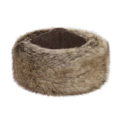FAUX FUR OCCASIONAL HAT in Truffle