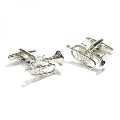 Mens Cufflinks in Large Trumpet Design