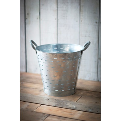 GALVANISED OYSTER Vintage Bucket by Garden Trading