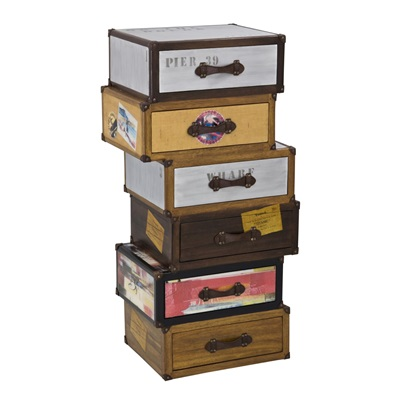 VOYAGER 6 DRAWERS TALLBOY TRUNK