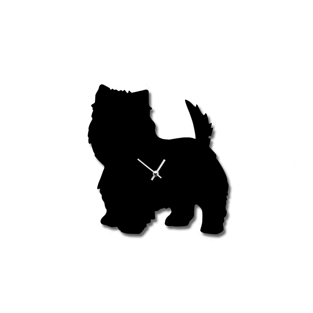 Wagging tail dog clock in westie animal wall clock cuckooland west highland terrier clockg amipublicfo Image collections