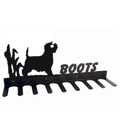 BOOT RACK in Westie Design