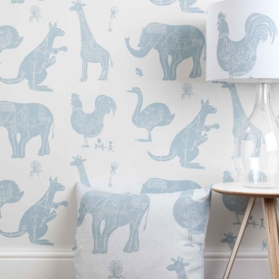 DESIGNER KIDS WALLPAPER- 'How it Works' in White
