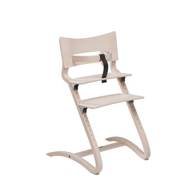 LEANDER High Chair in Whitewash
