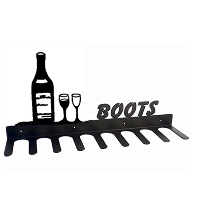 BOOT RACK in Wine Bottle Design