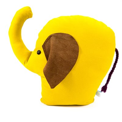 DOORSTOP in Yellow Elephant Design